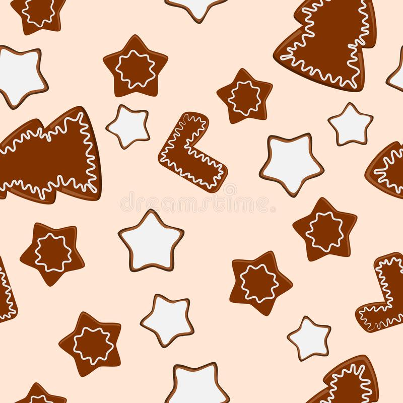 Het blad van het baksel met koekjes stock illustratie