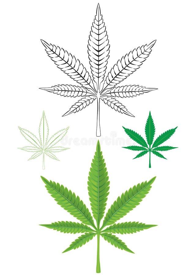 Het Blad van de cannabismarihuana vector illustratie