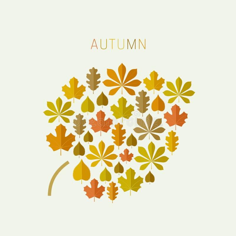 Het blad van de herfst De grootte van het beeld XXXL vector illustratie