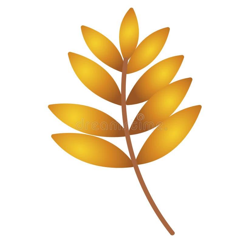 Het blad van de herfst De grootte van het beeld XXXL De esdoornblad van de herfst dat op een witte achtergrond wordt geïsoleerd? vector illustratie