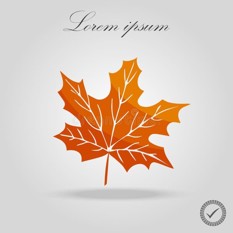 Het blad van de herfst De grootte van het beeld XXXL De esdoornblad van de herfst dat op een witte achtergrond wordt geïsoleerd?  royalty-vrije illustratie