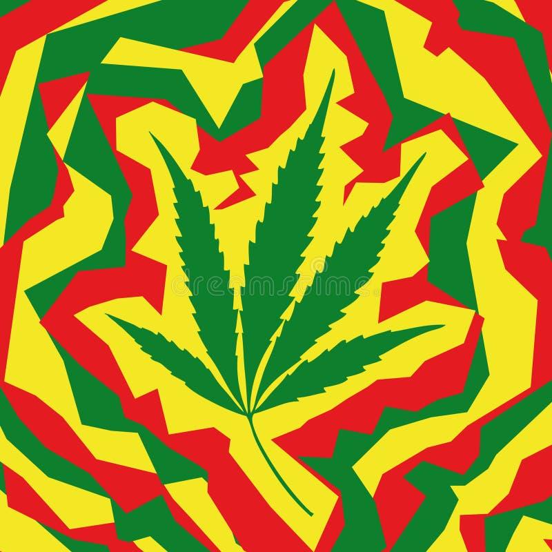 Het blad van de marihuana (vector) vector illustratie