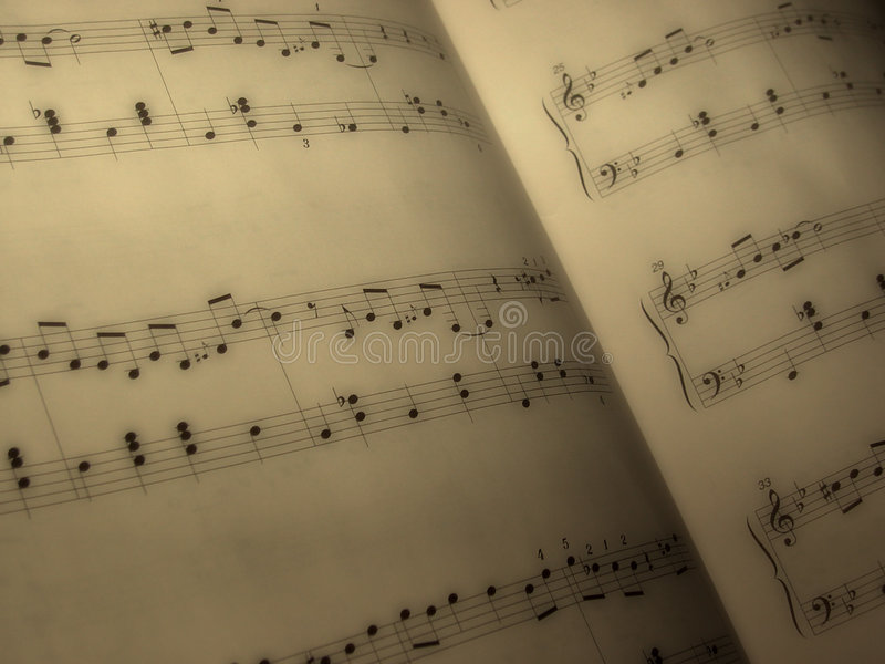 Het blad van de muziek royalty-vrije stock fotografie