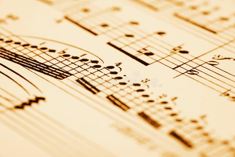 Het blad van de muziek royalty-vrije stock foto's