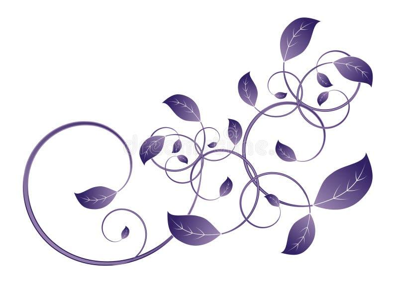 Het blad van de wijnstok vector illustratie