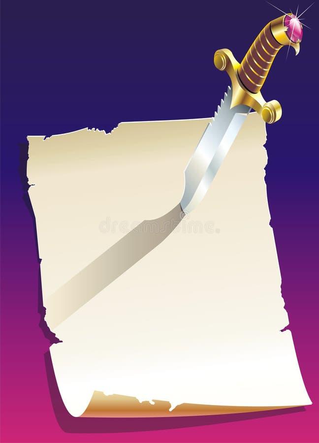 Het blad van het document royalty-vrije illustratie