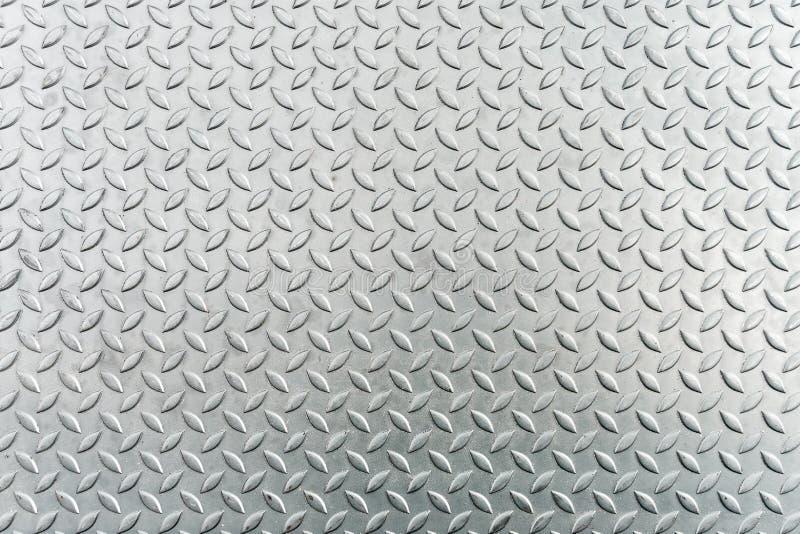 Het blad van het staal checkerplate metaal, de textuurachtergrond van het Metaalblad stock foto