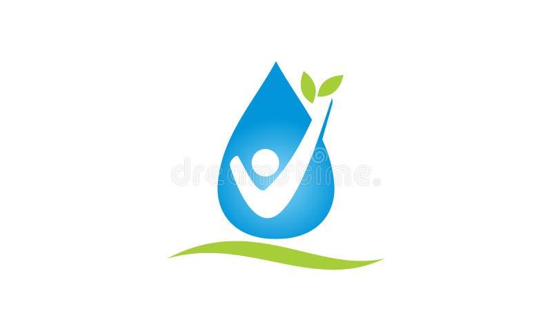 Het Bladmensen van het dalingswater vector illustratie