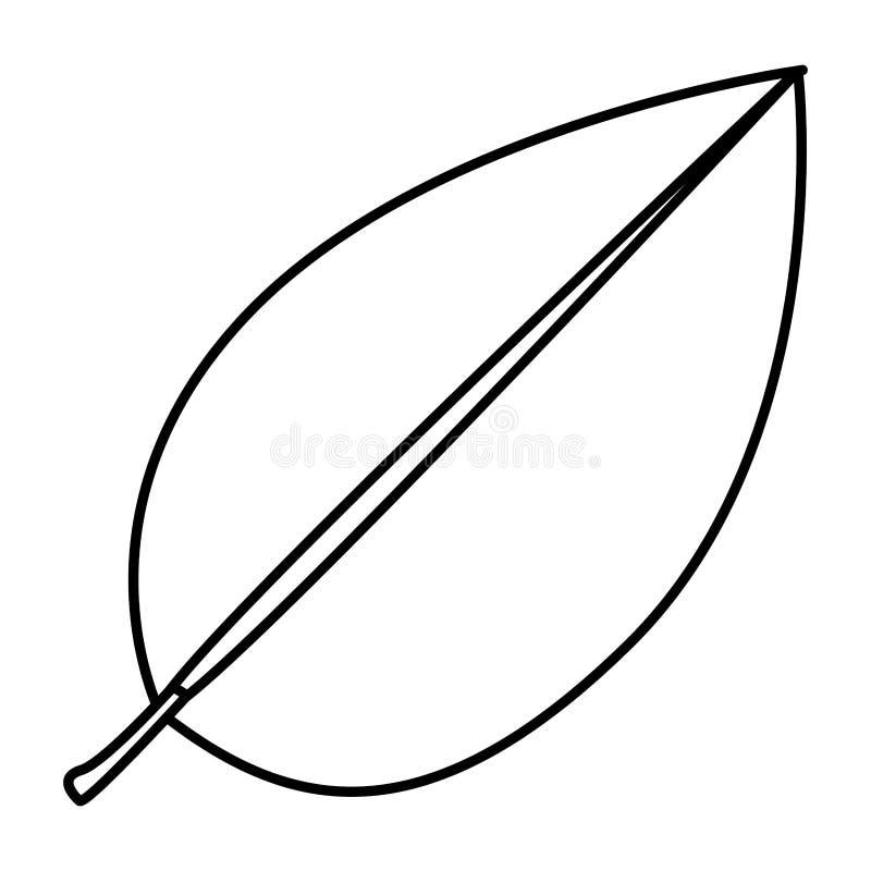 het bladpictogram van de cijferboom royalty-vrije illustratie