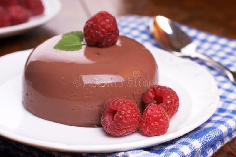 Het blanc-manger van de chocolade royalty-vrije stock afbeeldingen