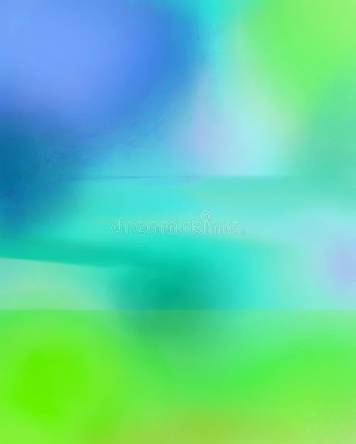 Het blauw and Green stock afbeelding