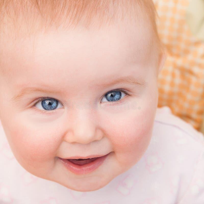 Het blauw-Eyed Meisje van de Baby royalty-vrije stock afbeeldingen