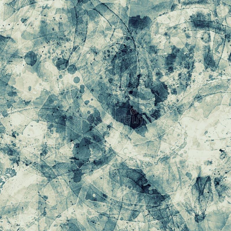 Het blauw ploetert bevlekte grunge versleten textuur oude document achtergrond royalty-vrije stock afbeeldingen
