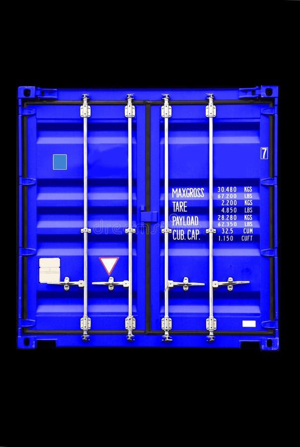 Het blauw van de container royalty-vrije stock afbeelding