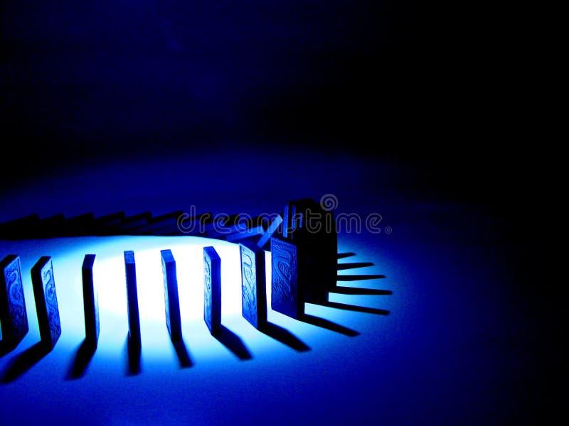 Het blauw van de domino royalty-vrije illustratie