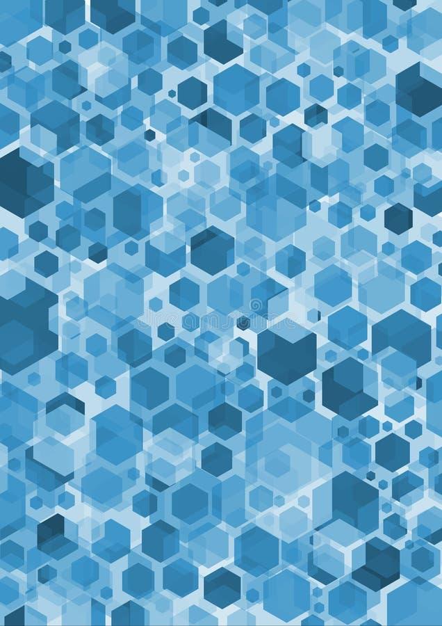 Het Blauw van de hexuitdraai vector illustratie