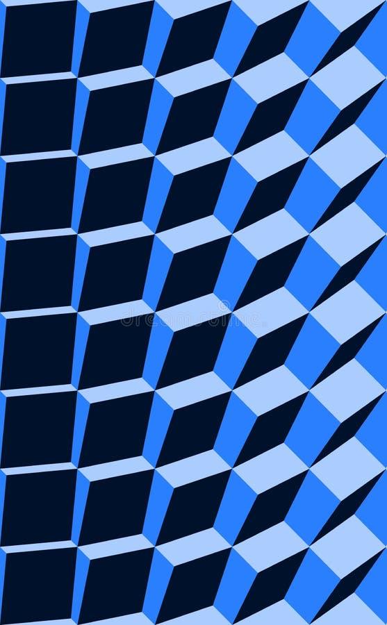 Het blauw van de optische illusie royalty-vrije illustratie