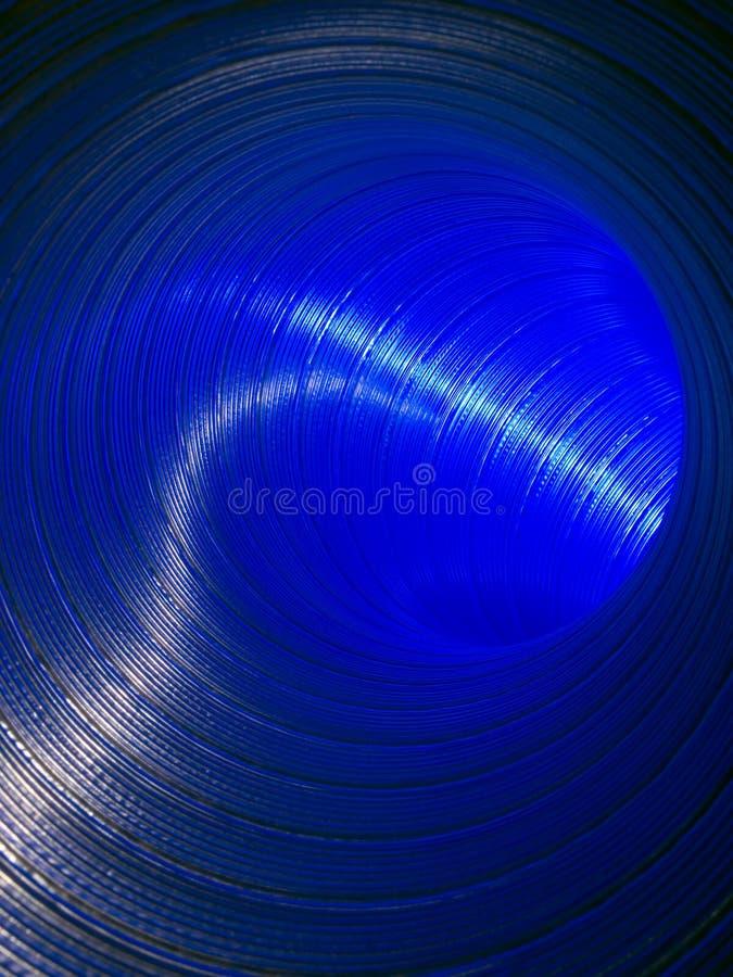 Het blauw van de pijp (mening van binnen). royalty-vrije stock foto