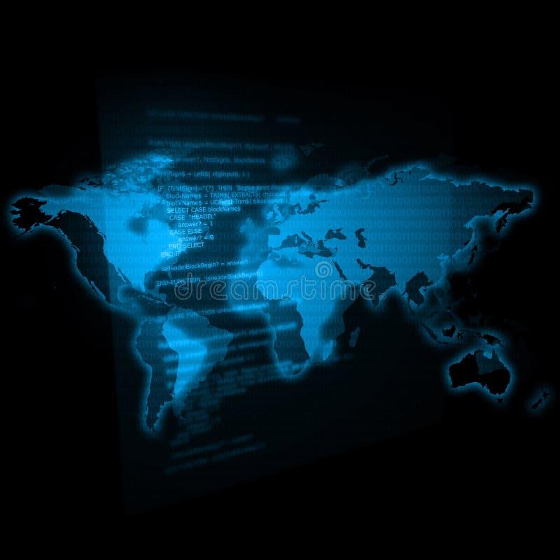 Het Blauw van de Wereld van IT royalty-vrije illustratie
