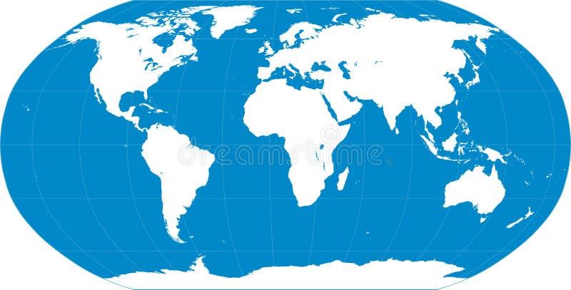 Het blauw van de wereldkaart royalty-vrije illustratie