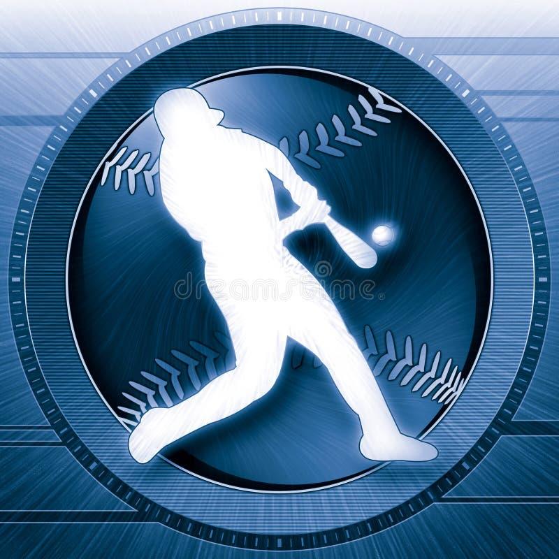 Het Blauw van de Wetenschap van het honkbal royalty-vrije illustratie
