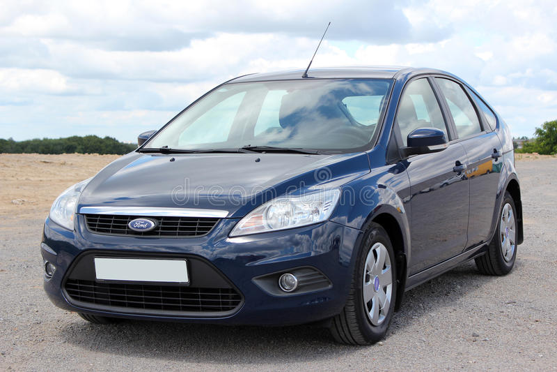 Het blauw van Ford Focus 2008 royalty-vrije stock foto