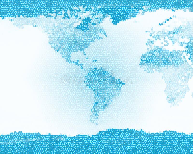 Het Blauw van het Gebrandschilderd glas van de aarde royalty-vrije stock foto's
