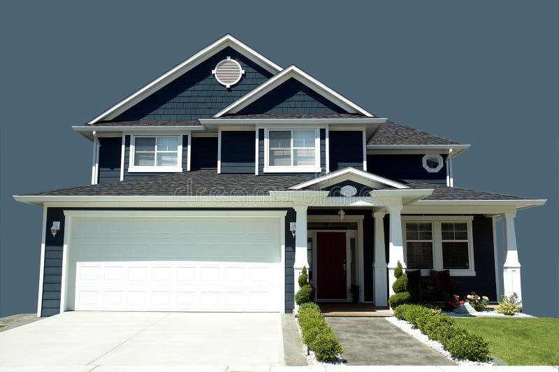 Het Blauw van het huis stock afbeelding