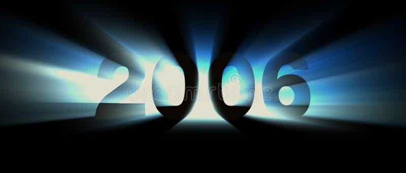 Het blauw van het jaar 2006 royalty-vrije illustratie
