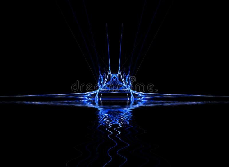 Het Blauw van het neon stock illustratie