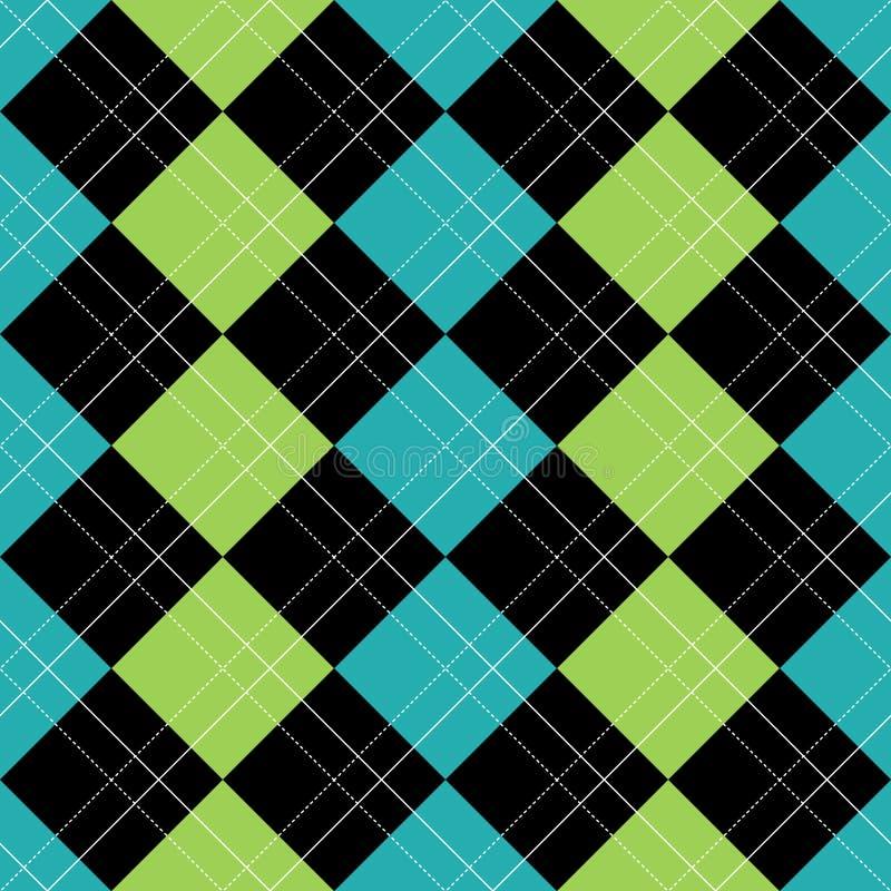Het Blauw van het Patroon van Argyle stock illustratie