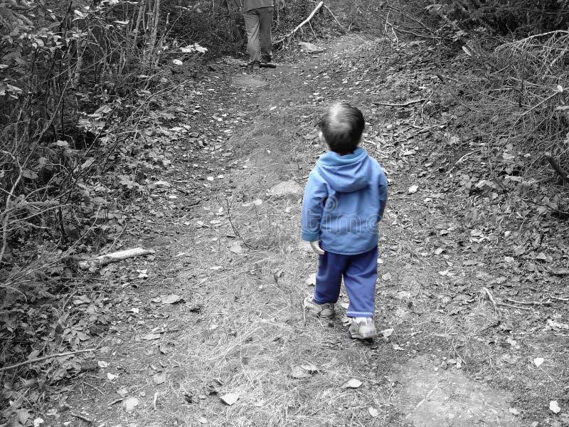 Het Blauw van Little Boy royalty-vrije stock foto