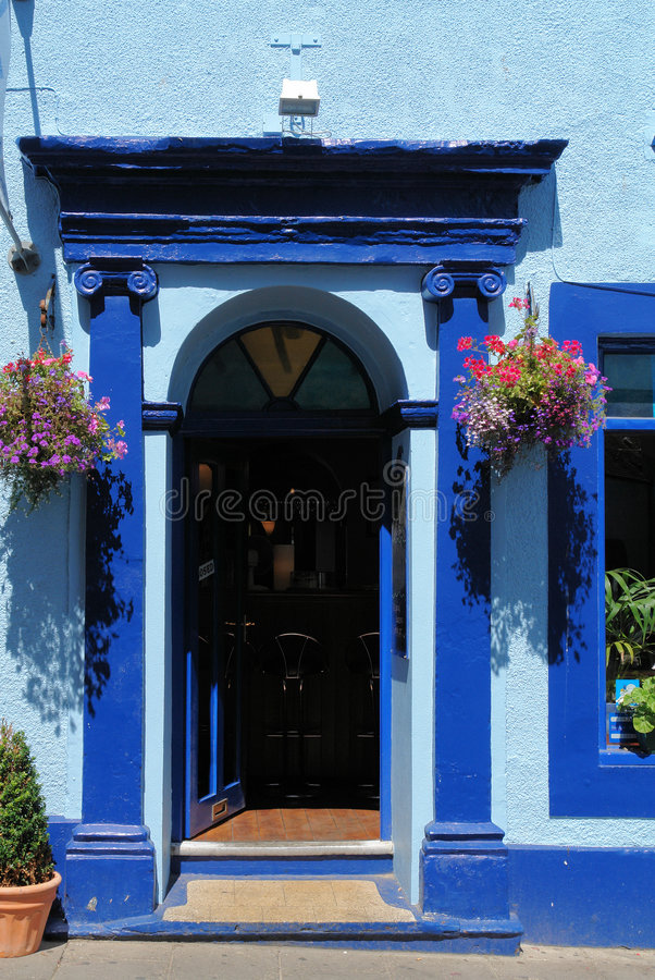 Het Blauw van Tenby stock fotografie