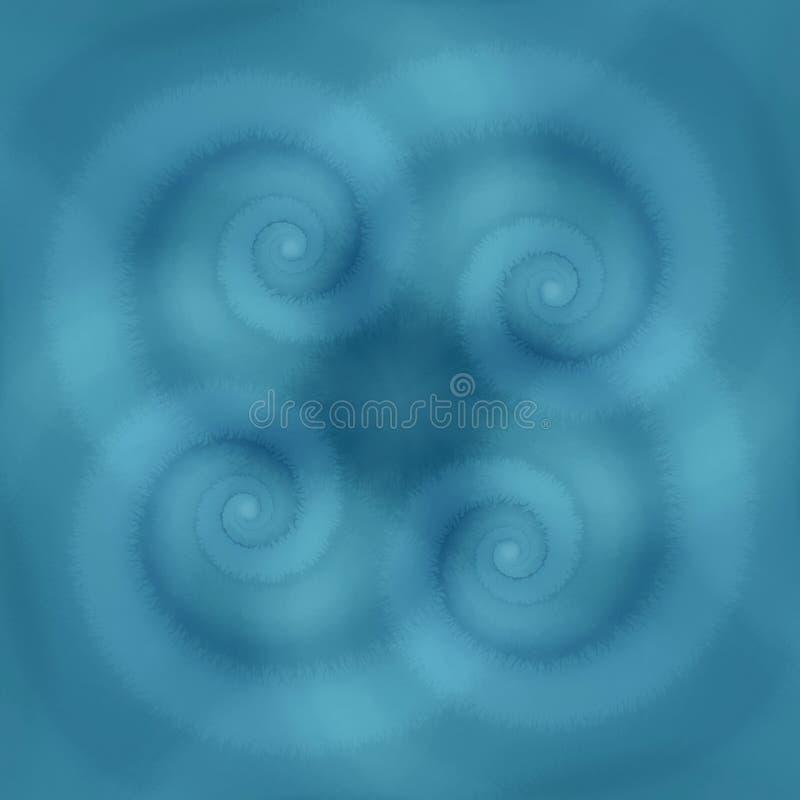 Het blauw wervelt de Textuur van Spiralen royalty-vrije illustratie
