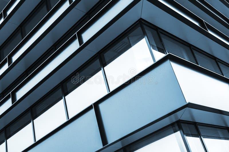 Het blauwe abstracte fragment van de de bouwvoorgevel royalty-vrije stock foto's