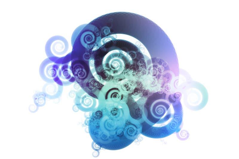 Het blauwe Abstracte Ontwerp Backgrou van het Mengsel van de Kleur van het Spectrum stock illustratie