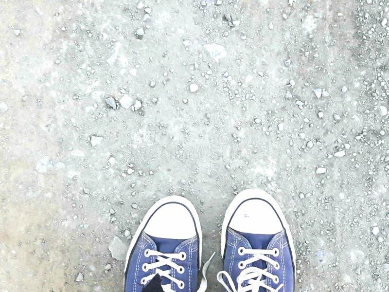 Het blauwe beeld van Schoenengronden stock afbeelding