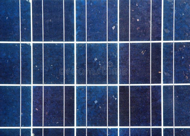 Het blauwe detail van de zonne-energieplaat stock afbeelding