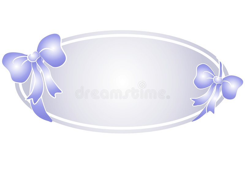 Het Blauwe Embleem Van Het Web Van De Bogen Van Het Lint Royalty-vrije Stock Fotografie