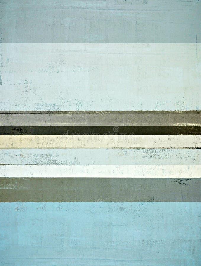 Het blauwe en Grijze Abstracte Schilderen van de Kunst royalty-vrije stock foto's