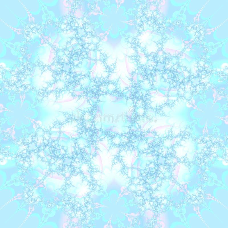 Het blauwe en Roze Abstracte Malplaatje Achtergrond van het Ontwerp stock illustratie