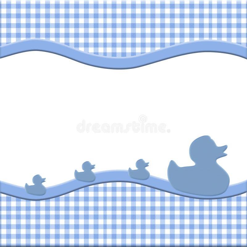 Het blauwe en Witte Frame van de Baby royalty-vrije illustratie