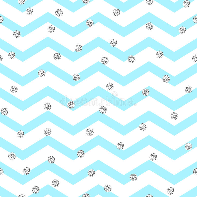 Het blauwe en witte naadloze patroon van de chevronzigzag royalty-vrije illustratie
