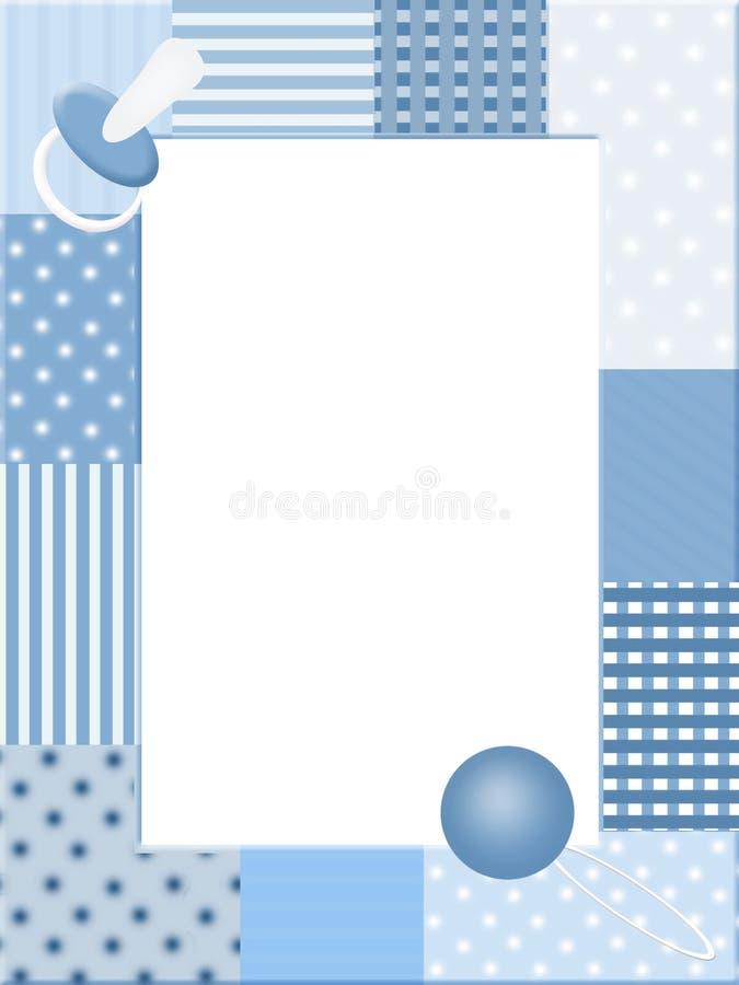 Het blauwe frame van de babysfoto royalty-vrije illustratie