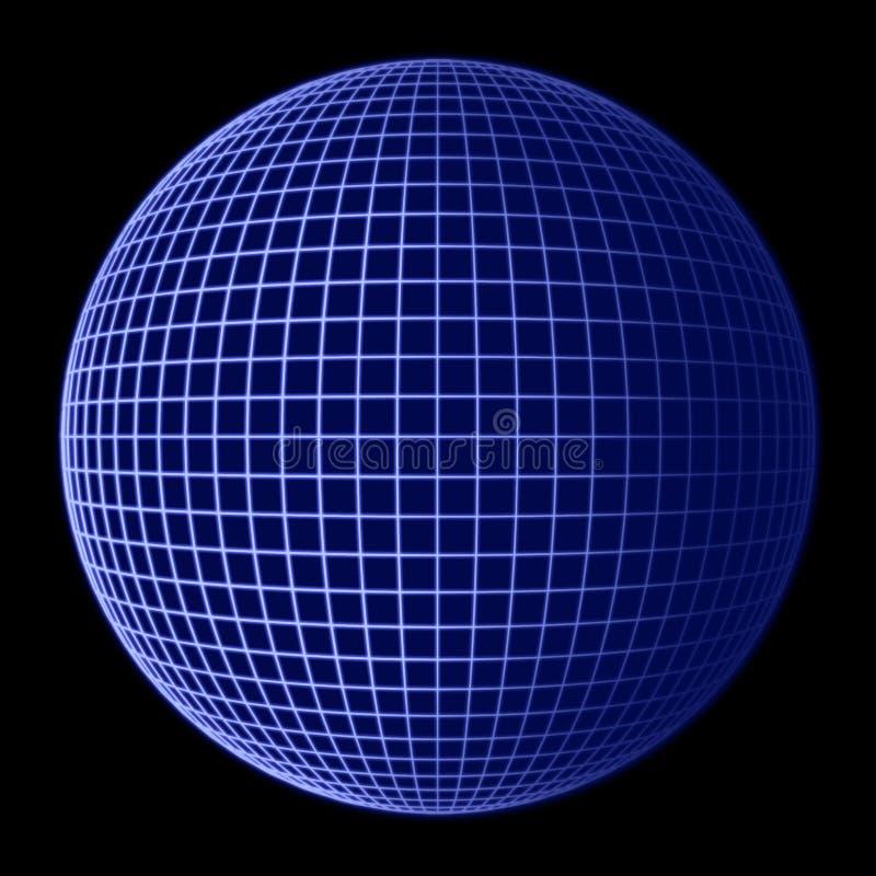 Het Blauwe Frame van de Bol van de aarde royalty-vrije illustratie