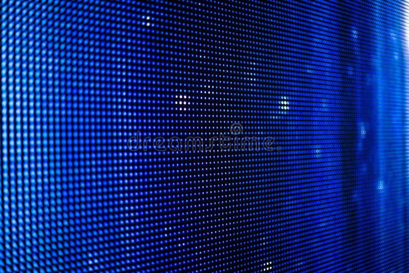 Het blauwe geleide scherm met witte punten stock fotografie