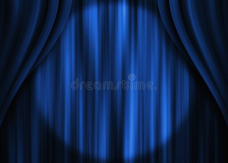 Het blauwe Gordijn van het Theater royalty-vrije stock foto's