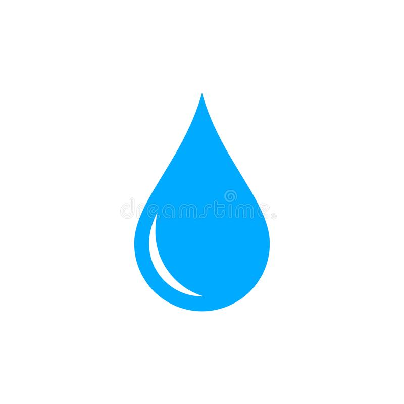 Het blauwe grafische pictogram van de waterdaling Symbool van zuiverheid royalty-vrije illustratie