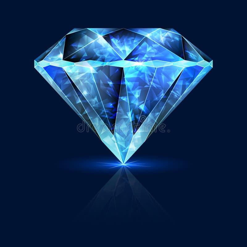 Het blauwe Halfedelsteen Glanzen Sapphire Crystal