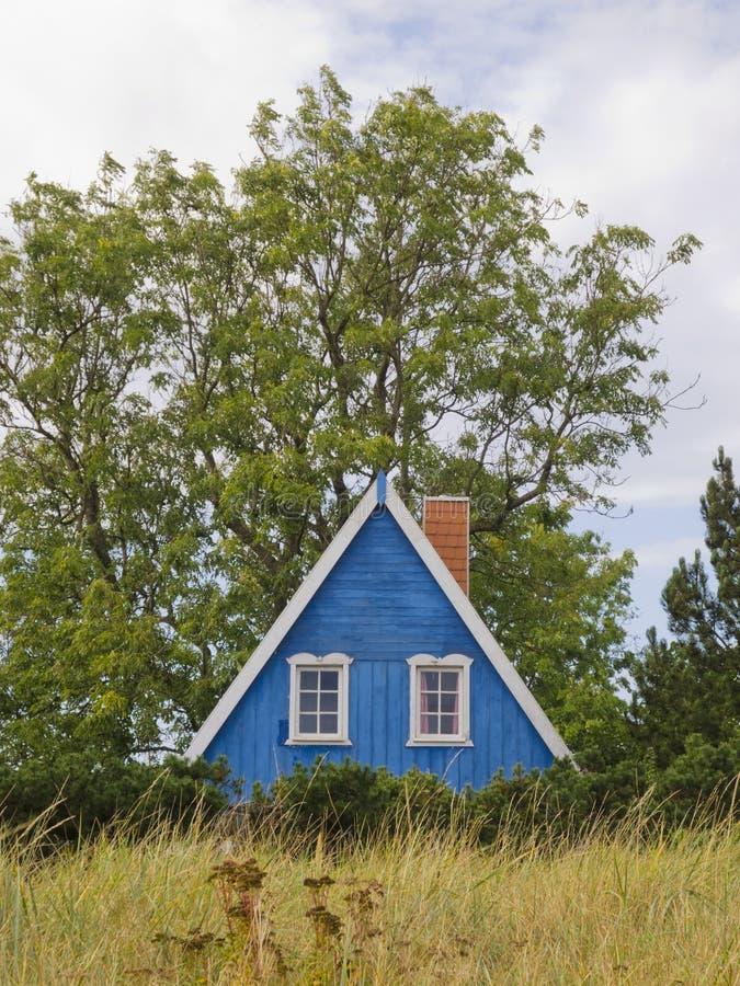 Het blauwe huis royalty-vrije stock afbeeldingen